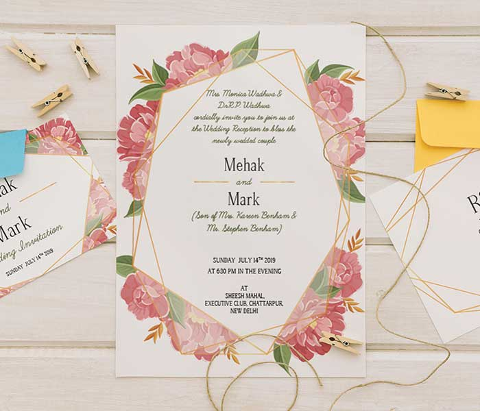 mehak mark wedding card